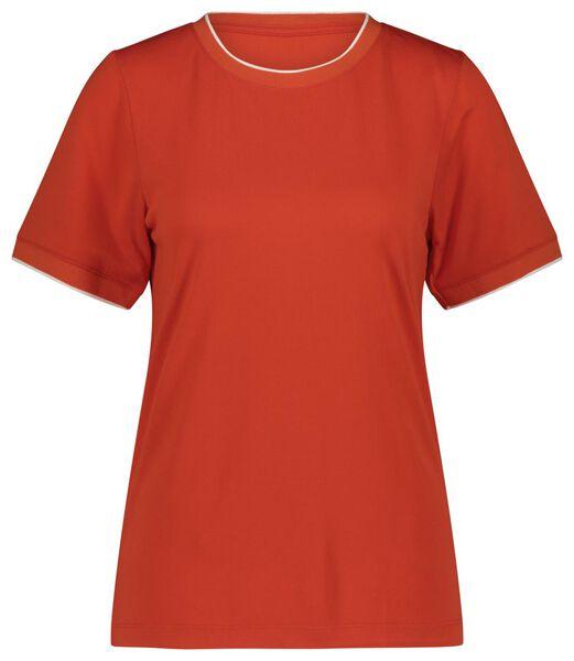 dames t-shirt oranje - 1000021244 - HEMA