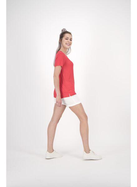dames t-shirt rood rood - 1000011654 - HEMA
