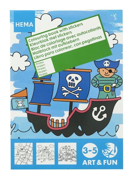 kleurboek met stickers - 15910002 - HEMA