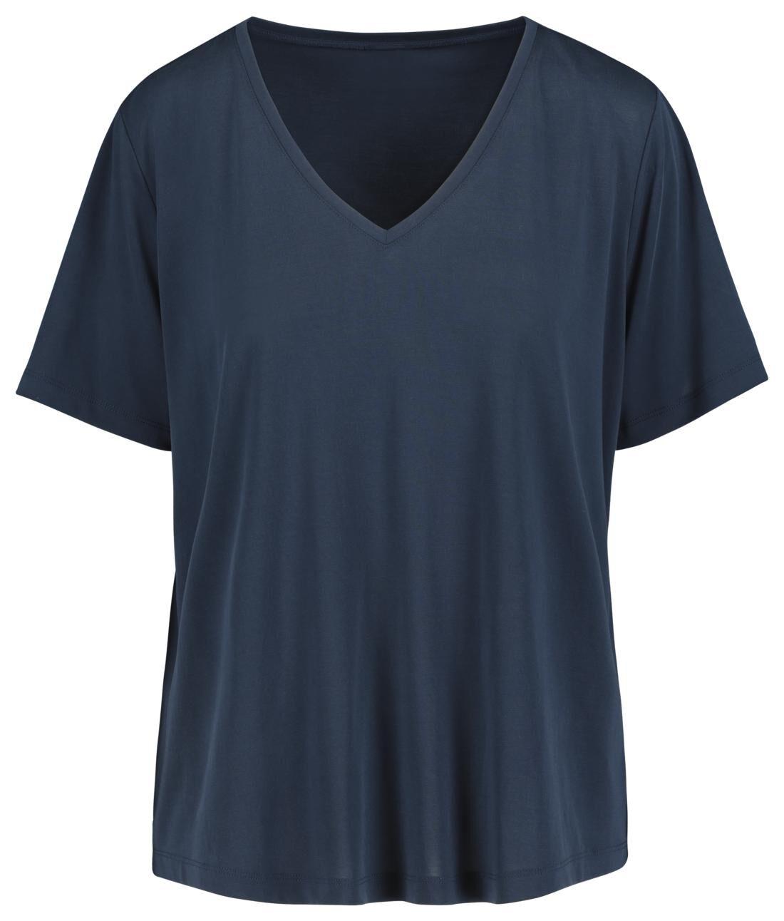 HEMA Dames T-shirt Donkerblauw (donkerblauw)