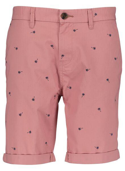 heren chino kort roze roze - 1000014633 - HEMA