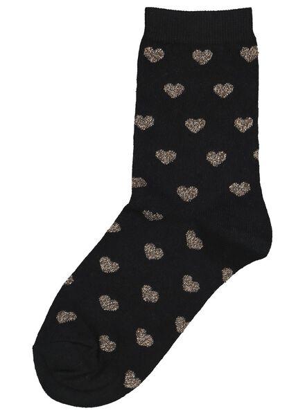 damessokken zwart zwart - 1000016544 - HEMA