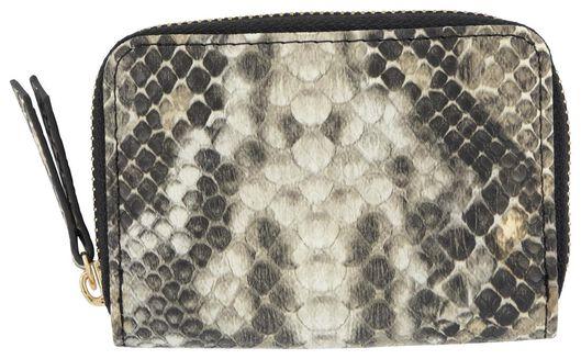 portemonnee slang wit/grijs/zwart - 18190034 - HEMA