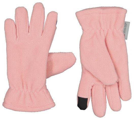 kinderhandschoenen met touchscreen roze roze - 1000020798 - HEMA