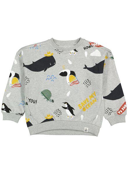 kindersweater grijsmelange grijsmelange - 1000014594 - HEMA