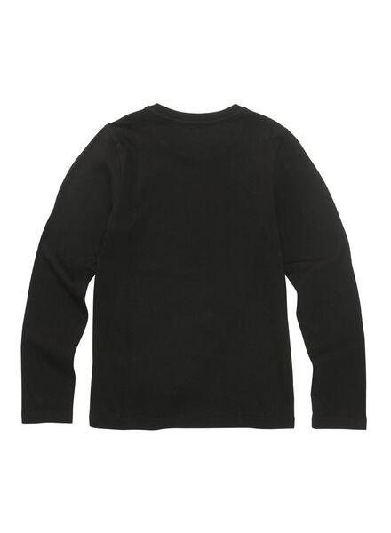kinder t-shirt zwart zwart - 1000010709 - HEMA
