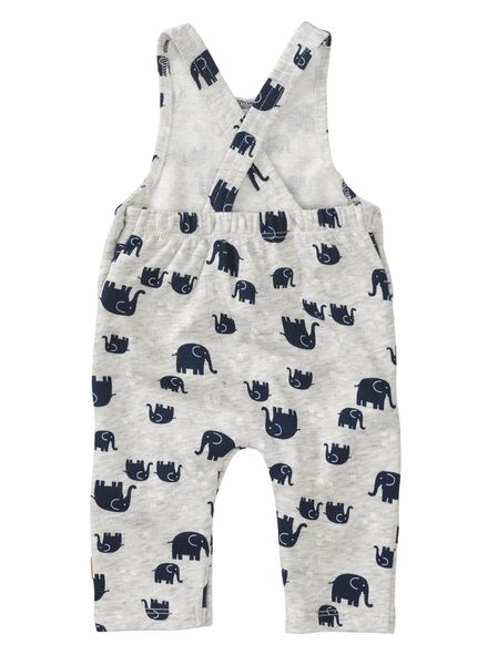 baby newborn jumpsuit grijsmelange grijsmelange - 1000013016 - HEMA
