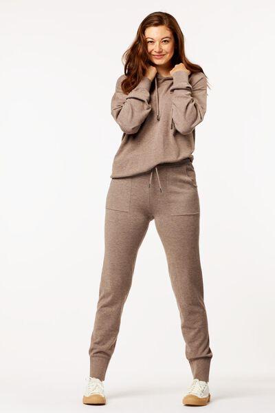 dames loungebroek bruin XL - 36224134 - HEMA