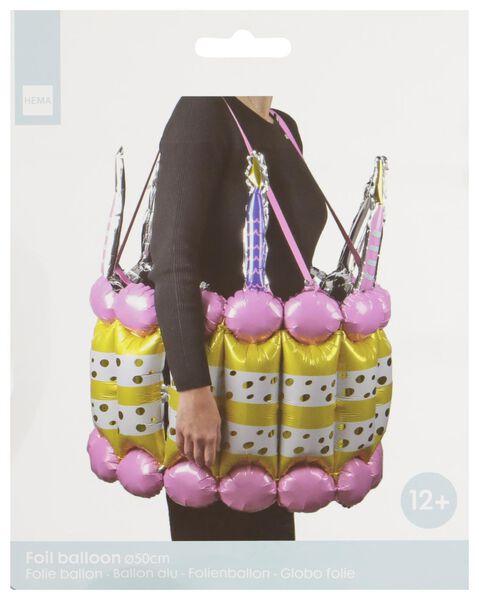 folieballon Ø 50 cm - verkleedset taart - 14230182 - HEMA