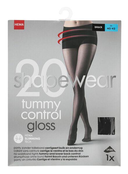 panty zonder tailleband 20 denier zwart zwart - 1000000933 - HEMA