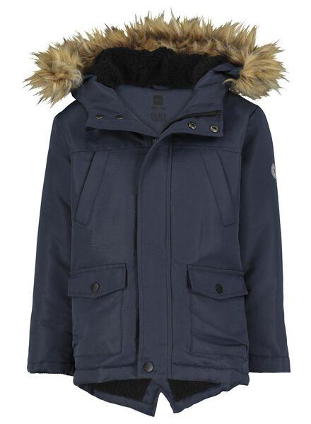 kinderjas met capuchon donkerblauw donkerblauw - 1000015025 - HEMA