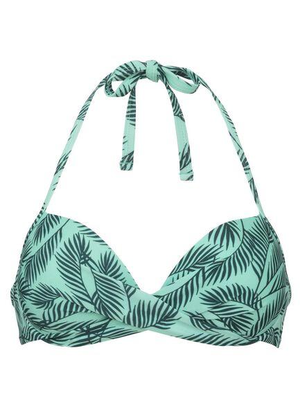 dames bikinitop push-up beugel groen groen - 1000011895 - HEMA