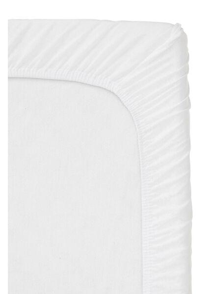 hoeslaken topmatras - jersey katoen - 180 x 220 cm - wit - 5100157 - HEMA