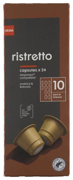 Koffiecapsules ristretto - 24 stuks