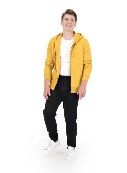 heren sweatvest met capuchon geel geel - 1000014297 - HEMA