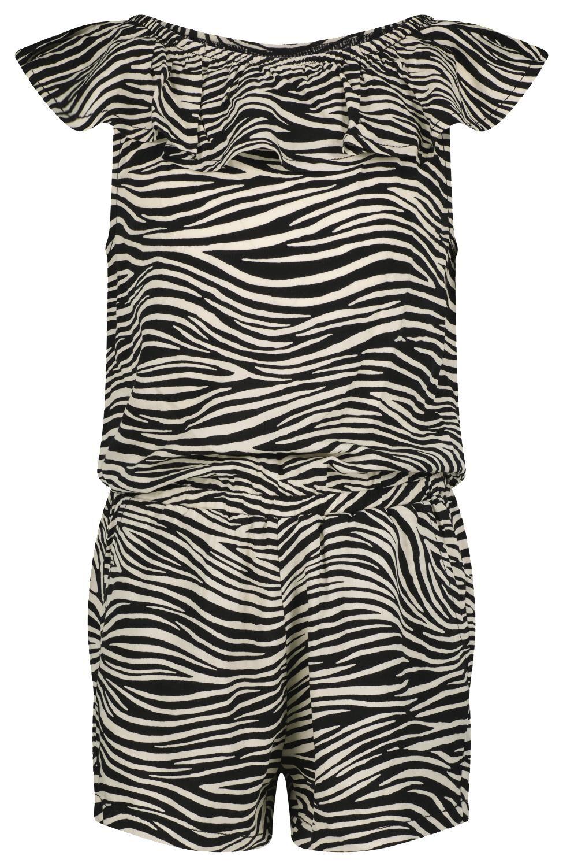 HEMA Kinder Jumpsuit Zebra Gebroken Wit (gebroken wit)