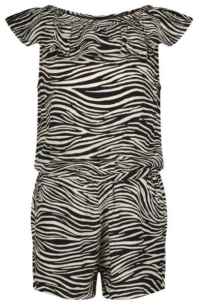 kinder jumpsuit zebra gebroken wit gebroken wit - 1000023675 - HEMA