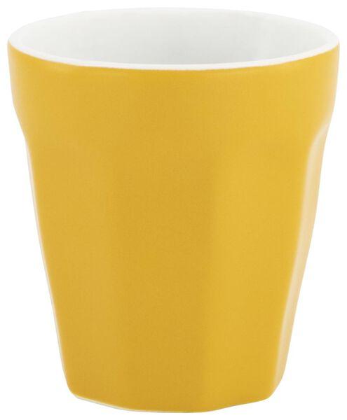 mok - 90 ml - Mirabeau mat - geel - 9602203 - HEMA