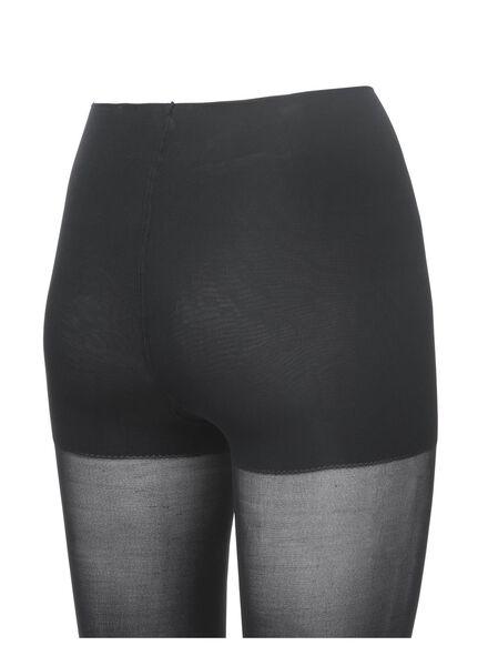 tummy control panty 40 denier zwart zwart - 1000001206 - HEMA