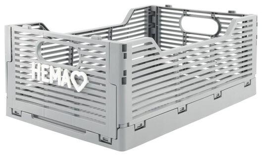 klapkratje letterbord recycled 20x30x11.5 - grijs grijs 20 x 30 x 11,5 - 39821032 - HEMA