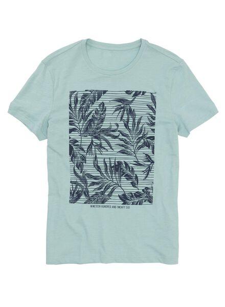 heren t-shirt lichtgroen lichtgroen - 1000011522 - HEMA