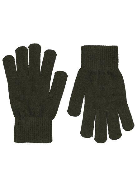 kinderhandschoenen donkergroen donkergroen - 1000015342 - HEMA