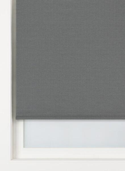 rolgordijn structuur verduisterend/gekleurde achterzijde grijs structuur verduisterend/gekleurde achterzijde - 7410368 - HEMA