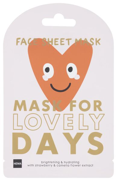 sheet gezichtsmasker aardbei/cameliabloem - 17860123 - HEMA