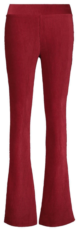 HEMA Damesbroek Corduroy Rib Rood (rood)