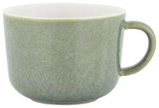 cappuccinomok Chicago 330 ml - reactief glazuur - groen - 9602161 - HEMA