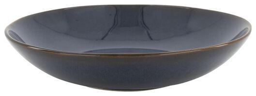 diep bord - 21 cm - Porto - reactief glazuur - donkerblauw - 9602218 - HEMA