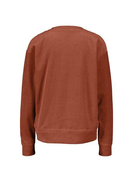 dames sweatshirt bruin bruin - 1000014760 - HEMA