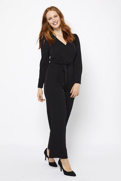 dames jumpsuit glitter zwart zwart - 1000021710 - HEMA