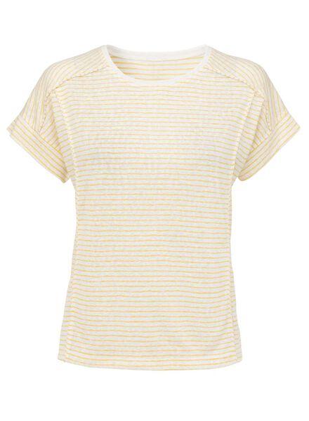 dames t-shirt geel - 36278616 - HEMA