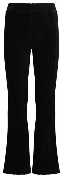 kinderlegging flared corduroy zwart 110/116 - 30817526 - HEMA