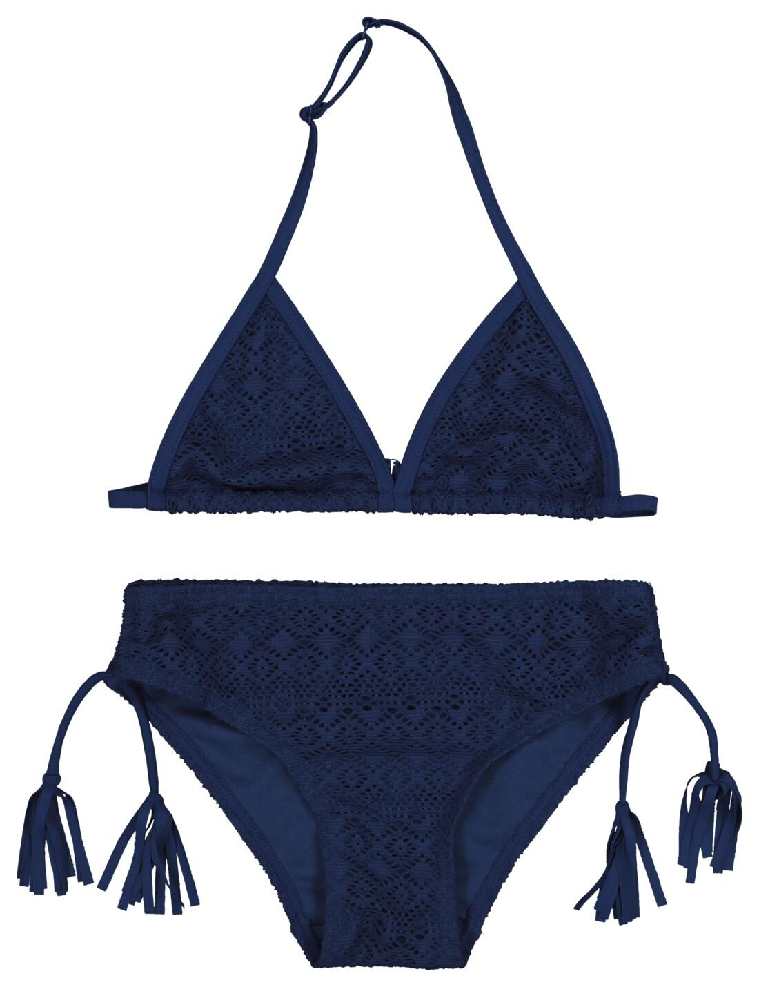 HEMA Kinderbikini Triangel Donkerblauw (donkerblauw)