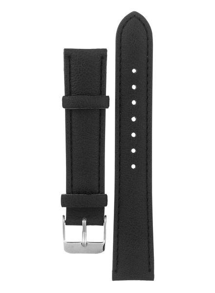 horlogeband zwart zwart - 1000002419 - HEMA