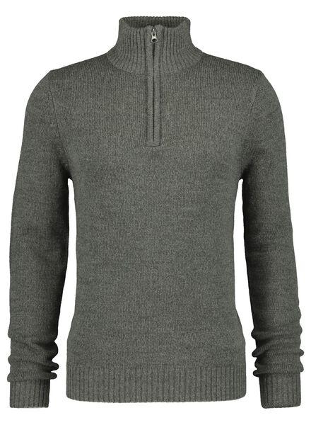 herentrui grijsmelange grijsmelange - 1000017141 - HEMA
