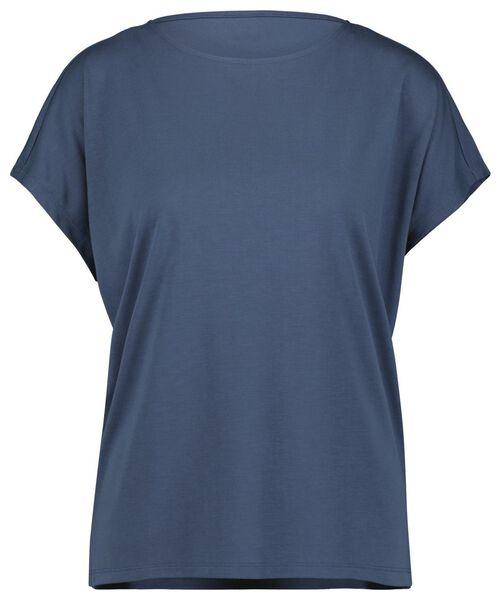 dames t-shirt blauw M - 36262382 - HEMA