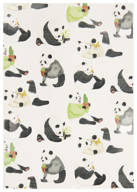 HEMA Schrift 25.5x18 Gelinieerd Panda apos s