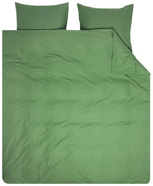 dekbedovertrek - 200 x 200 - zacht katoen - groen groen 200 x 200 - 5710114 - HEMA