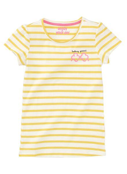 kinder t-shirt geel geel - 1000007459 - HEMA