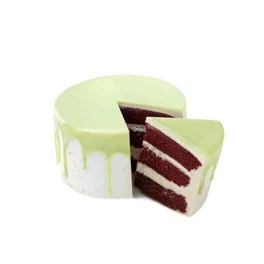 Dripcake groen red velvet 8 p.
