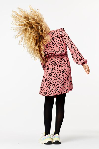 kinderjurk met smock roze roze - 1000024750 - HEMA