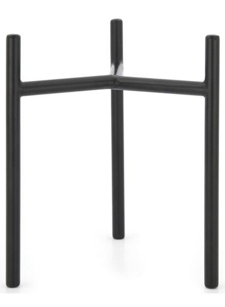 plantenstandaard - 17 cm - zwart metaal - 13392084 - HEMA