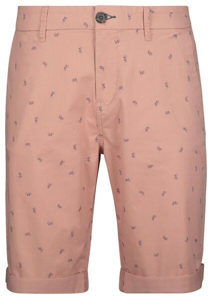 herenshort chino - regular fit roze roze - 1000019177 - HEMA