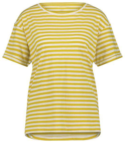 dames t-shirt strepen geel geel - 1000023914 - HEMA