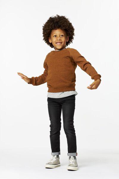 kinder sweater bruin bruin - 1000025254 - HEMA