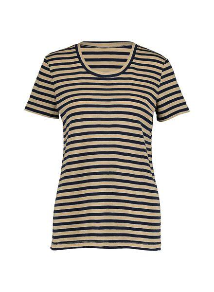 dames t-shirt donkerblauw donkerblauw - 1000014835 - HEMA