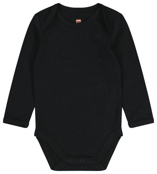 2-pak rompertjes met bamboe wit/zwart wit/zwart - 1000020631 - HEMA
